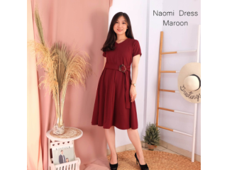 Naomi Dress Casual Terusan Santai Gaun Pesta Party Fashion Wanita