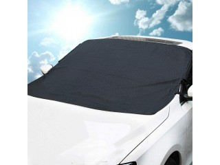 Windshield Cover Waterproof Sun Shade Protector with Magnets and Lengthened Side Panels Snow Protection Cover Fits All Season and Most Cars