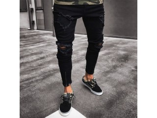 Mens Cool Designer Brand Black Jeans