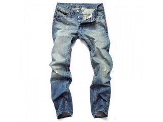 Straight Slim Cotton High Quality Denim Jeans Men