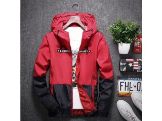 Casual Slim Patchwork Windbreaker Jacket