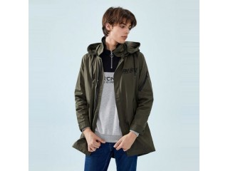 Pocket Zip Snap Closure Style Men Outdoor Jacket