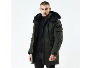 Casual Long Style Hooded Epaulet Cotton Padded Jackets