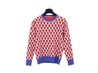 Vintage Red Leaf Jacquard Warm Sweaters