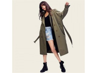 Women Casual Trench Coat