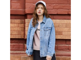 Women Cotton Oversized Denim Jacket